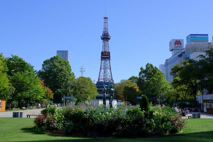 2019年9月の大通公園とさっぽろテレビ塔