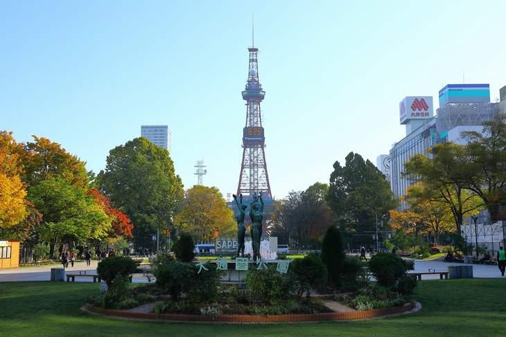 2019年10月の大通公園とさっぽろテレビ塔