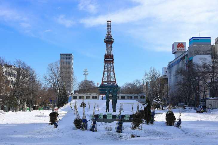 2020年2月の大通公園とさっぽろテレビ塔