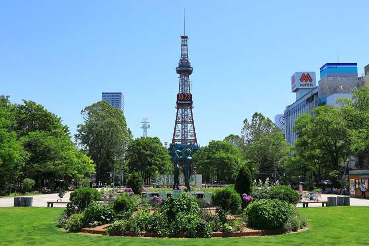 2020年6月の大通公園とさっぽろテレビ塔