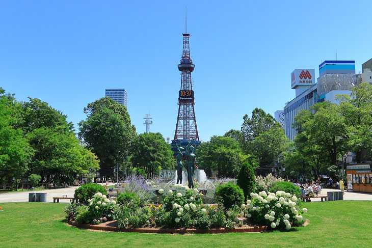 2020年7月の大通公園とさっぽろテレビ塔