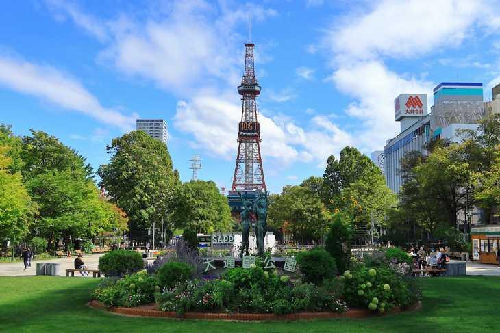 2020年9月の大通公園とさっぽろテレビ塔