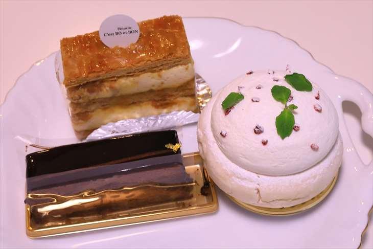 C'est BO et BON(セ・ボー・エ・ボン)のケーキ