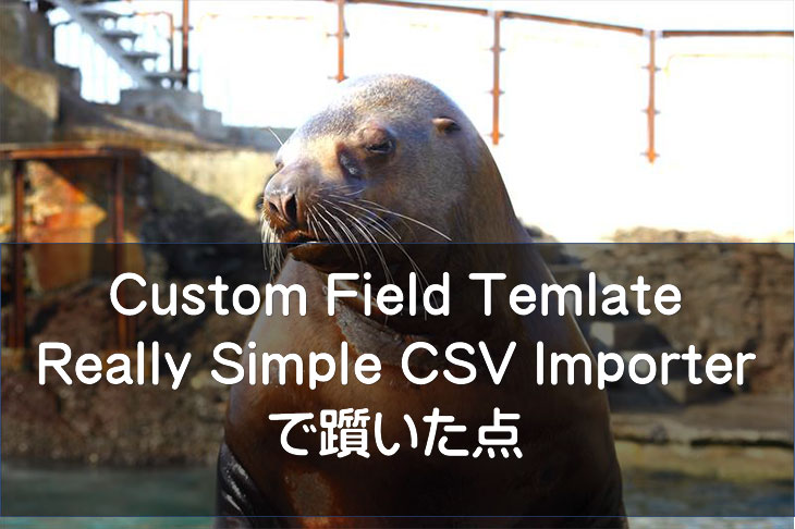 Custom Field Template・Really Simple CSV Importerで躓いた点